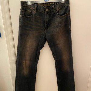 American Eagle Dark Distressed Jeans